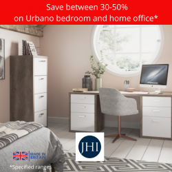 Save between 30-50% on Urbano home office and bedroom