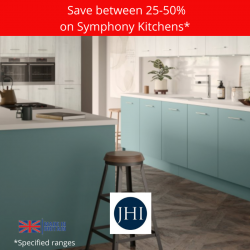 save between 25-50% on Symphony kitchens